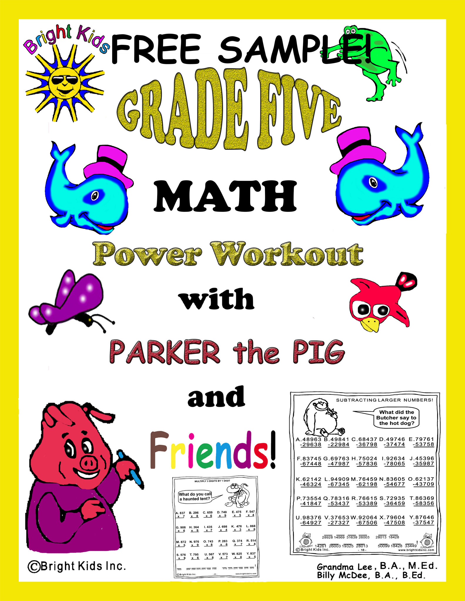 Worksheet Math 5 grade 5 math power workout free sample 1 bk cover
