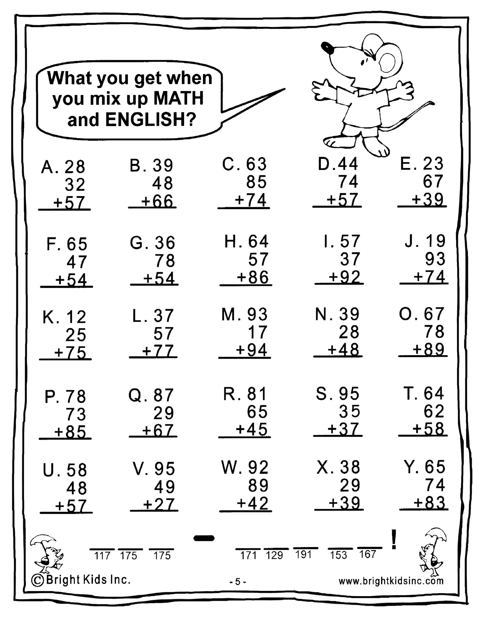 Worksheet Math For Grade 4 grade 4 math power workout