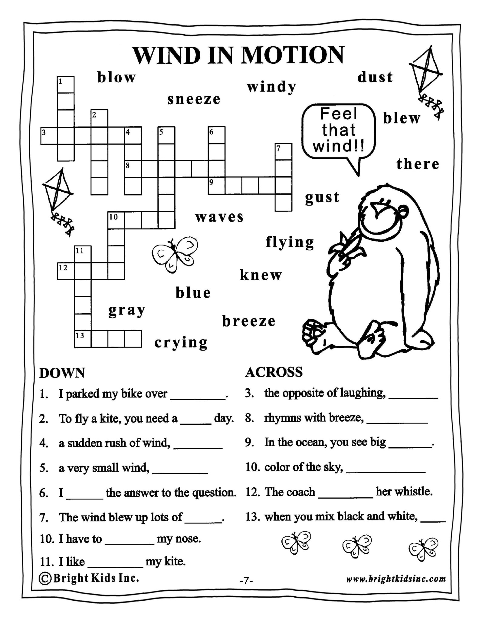 English Worksheets For Grade 3 : Grade english word power workout free sample